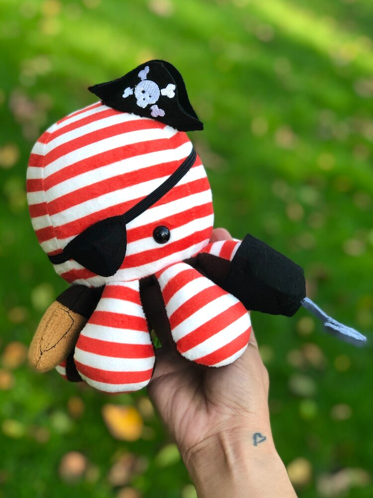 Scatterbrain Handmade Octapal Sgt. Sealegs the Pirate, by Lisamarie Pearson