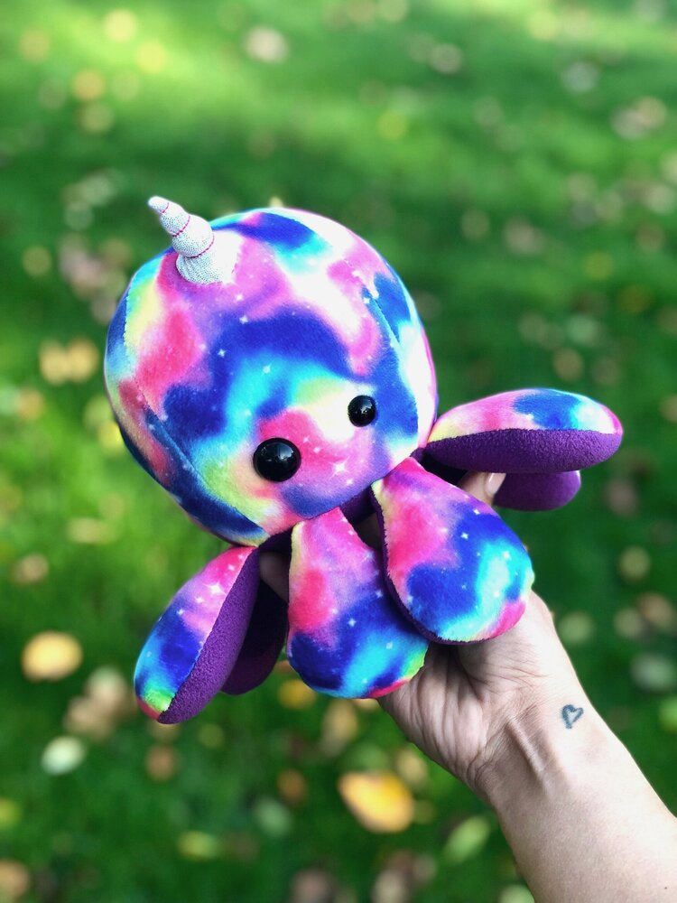 Scatterbrain Handmade Octapal Roxie the Octocorn, by Lisamarie Pearson