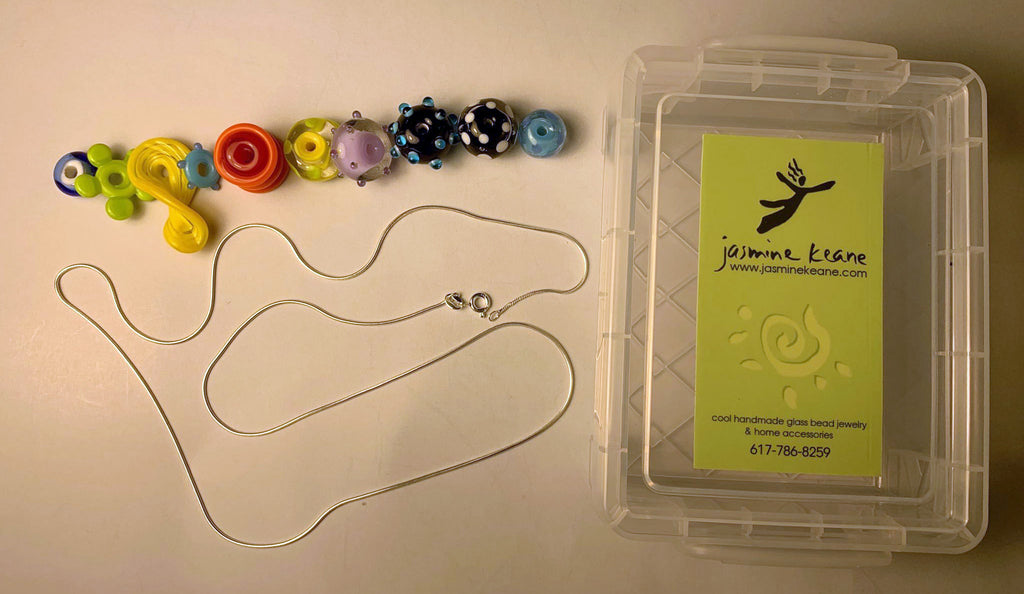 DIY-Glass Bead Necklace Box
