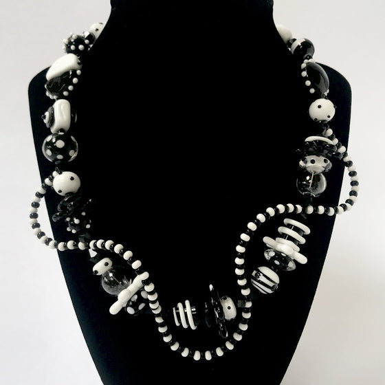 Black and White DNA Necklace
