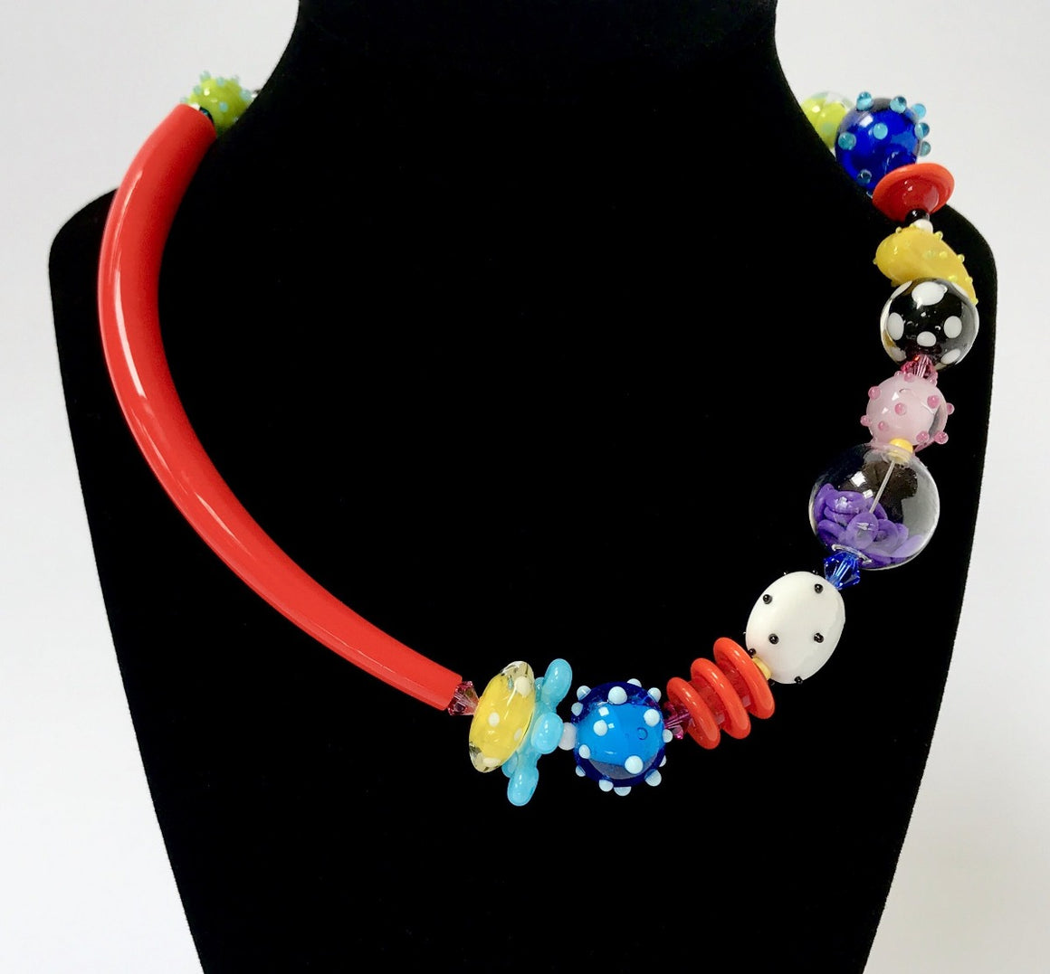 Multi Color Caress Necklace by Jasmine Keane