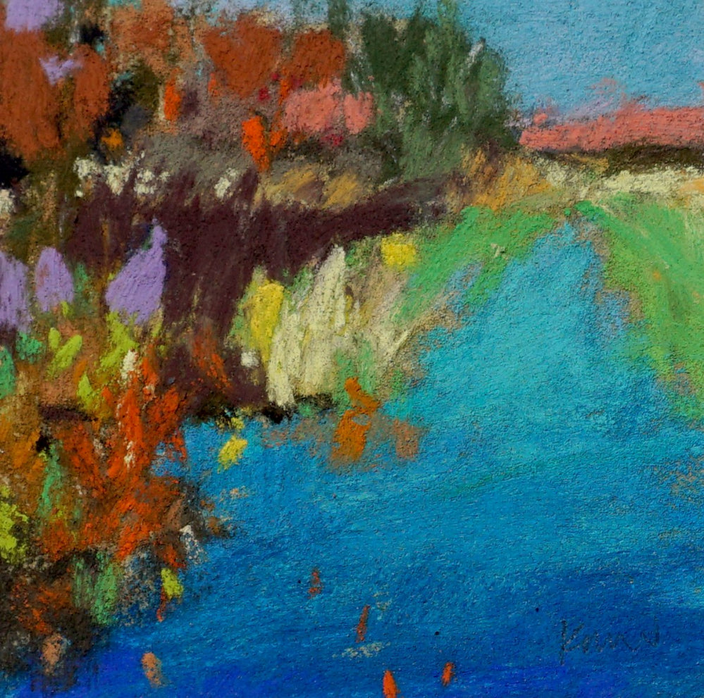 """Bright Marsh"" an Original Pastel by Kim Morin Weineck"