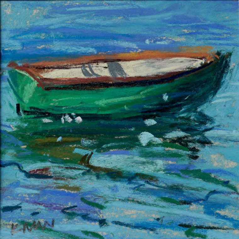 """Green Boat"" an Original Pastel by Kim Morin Weineck"