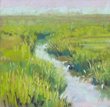 marsh original pastel by kim morin weineck