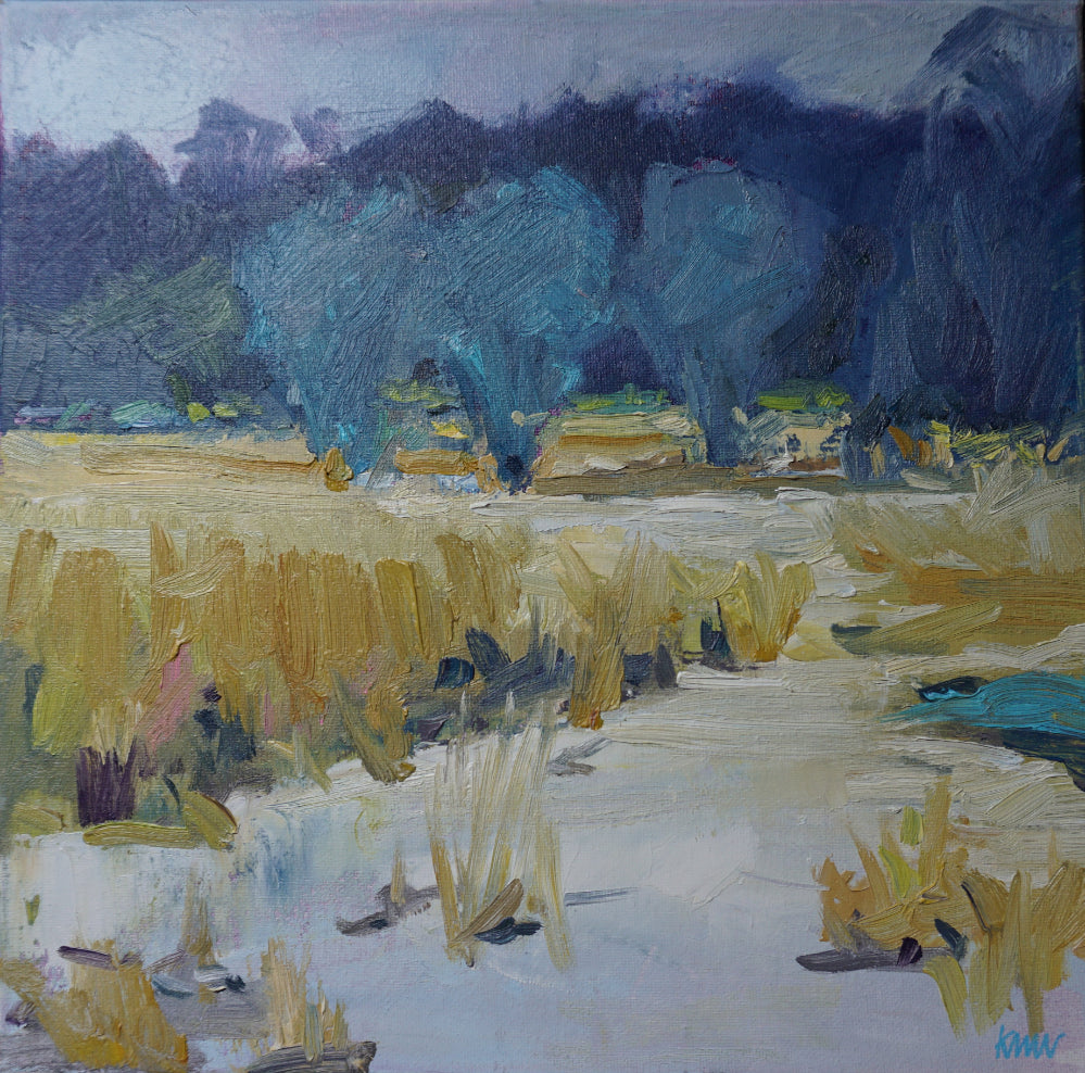 """Marsh Ice"", Original Oil Painting by Kim Morin Weineck"