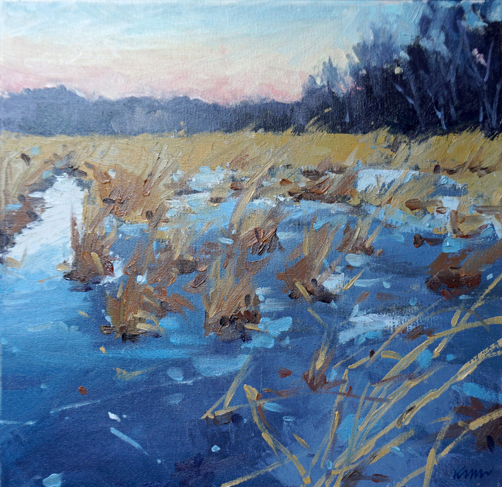 """Thin Ice"", Original Oil Painting by Kim Morin Weineck"