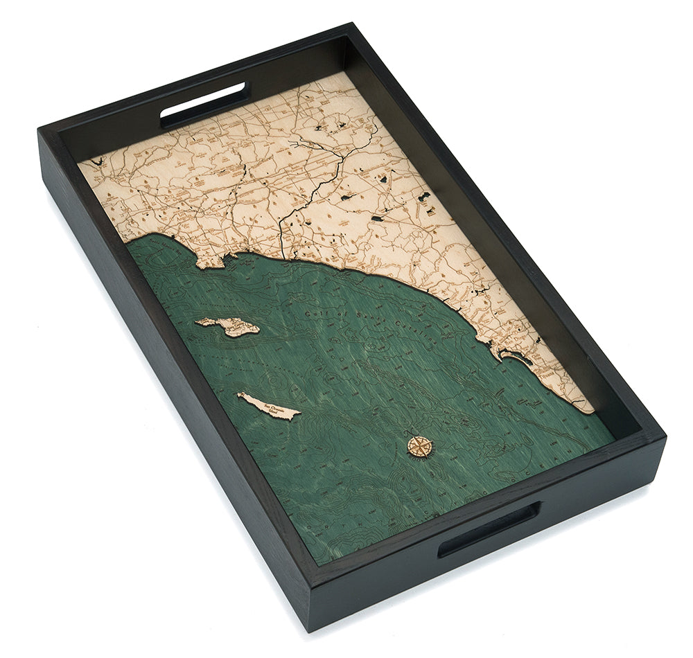 LA to San Diego Serving Tray