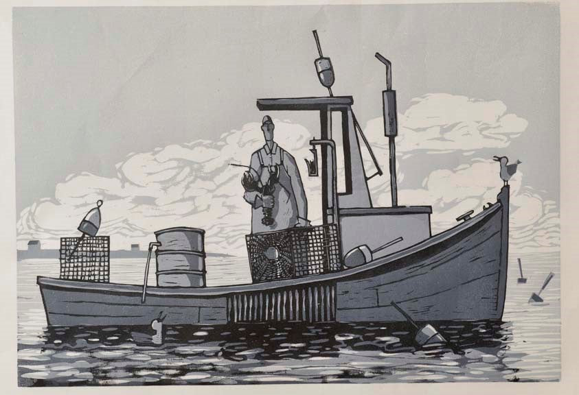 Keeper, Woodcut by David Witbeck
