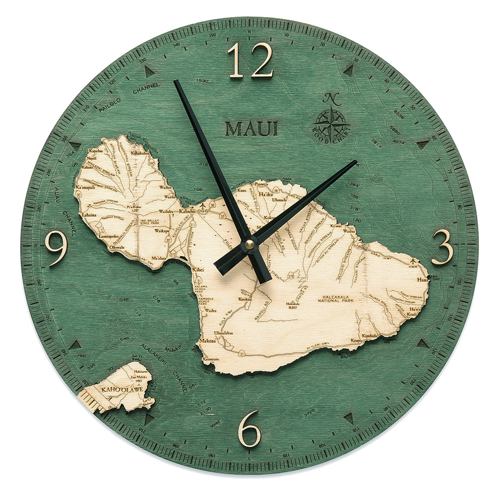 Maui, HI Wall Clock