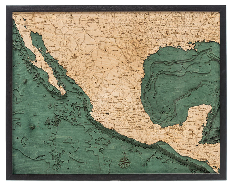 Mexico Wood Chart Map