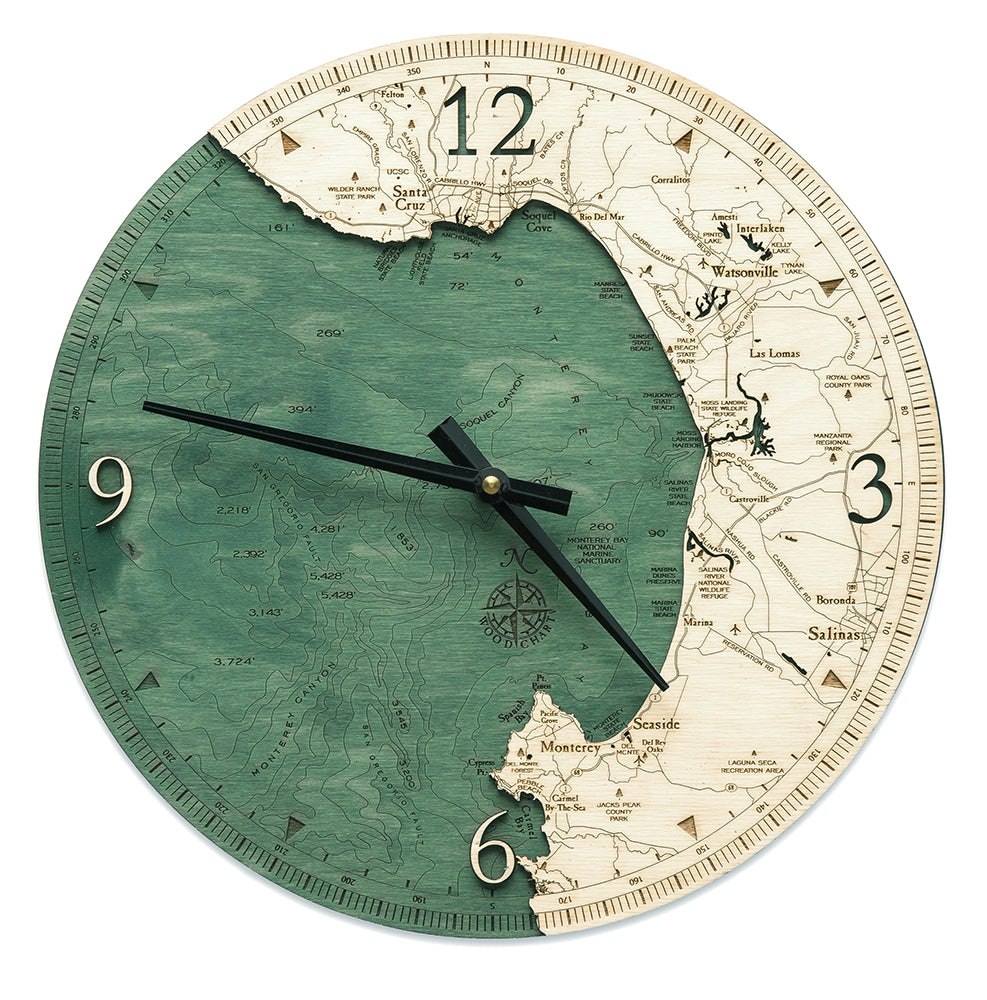 Monterey Bay, CA Wall Clock