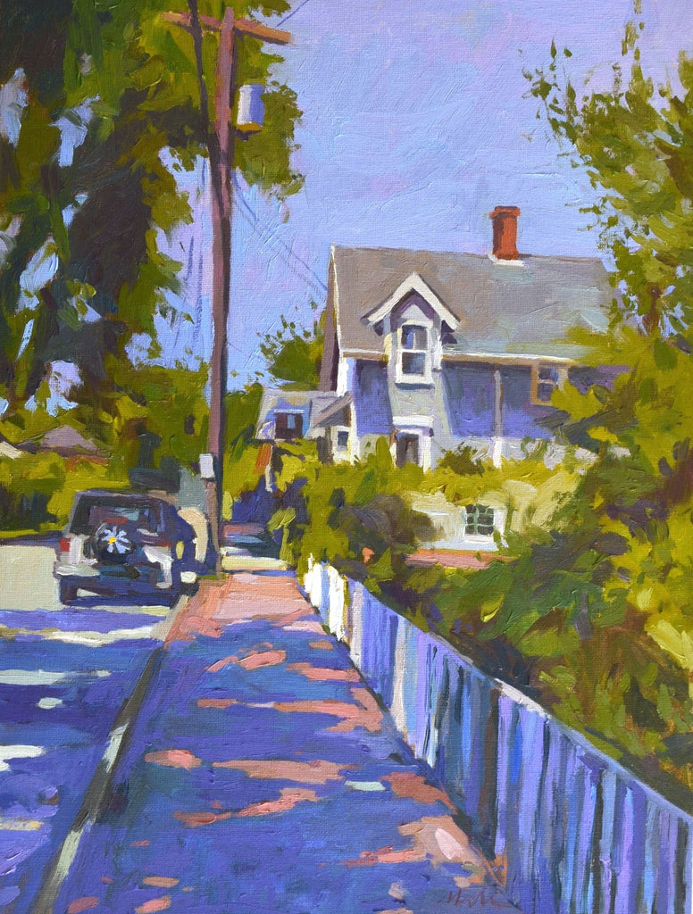 Original Oil Painting by Robert Abele - Morning Shadows Nantucket