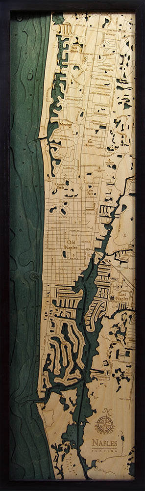 Naples Wood Chart Map