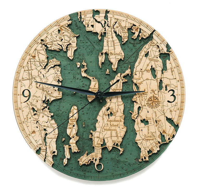Narragansett Bay Wall Clock