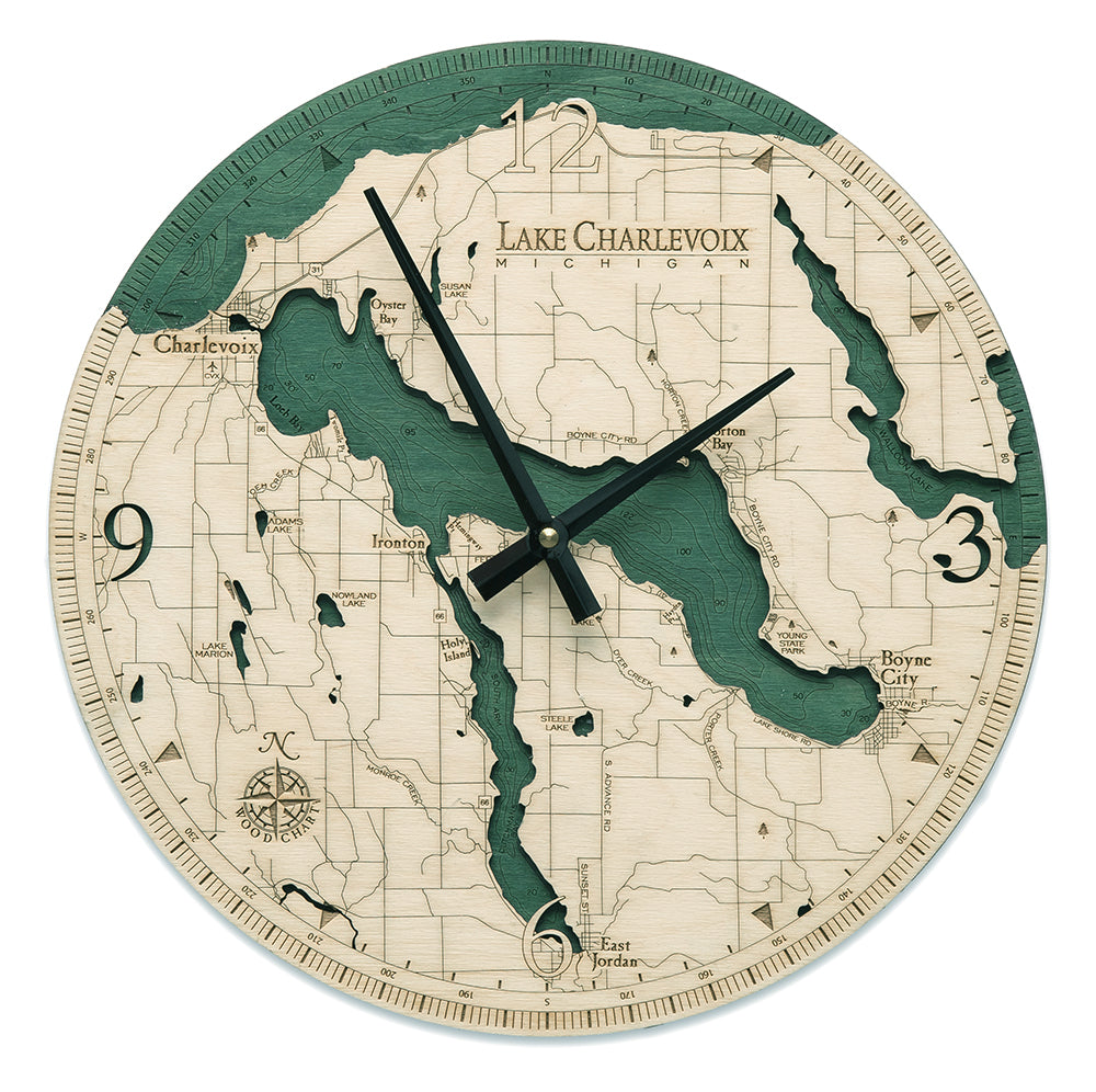 Lake Charlevoix Wall Clock