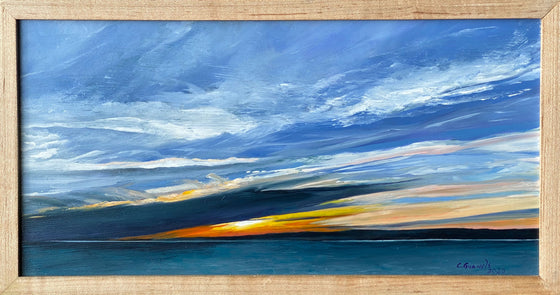 """Bay of Fundy"", Original Oil Painting by Christy Gunnels LaGue"