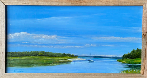 """Buzzards Bay, Anchored"", Original Oil Painting by Christy Gunnels LaGue"
