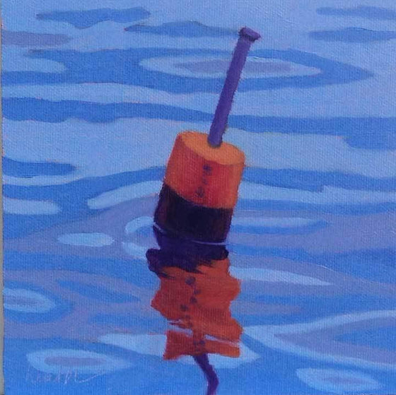 Buoy 1-2 Original Oil Painting by Bobbi Heath