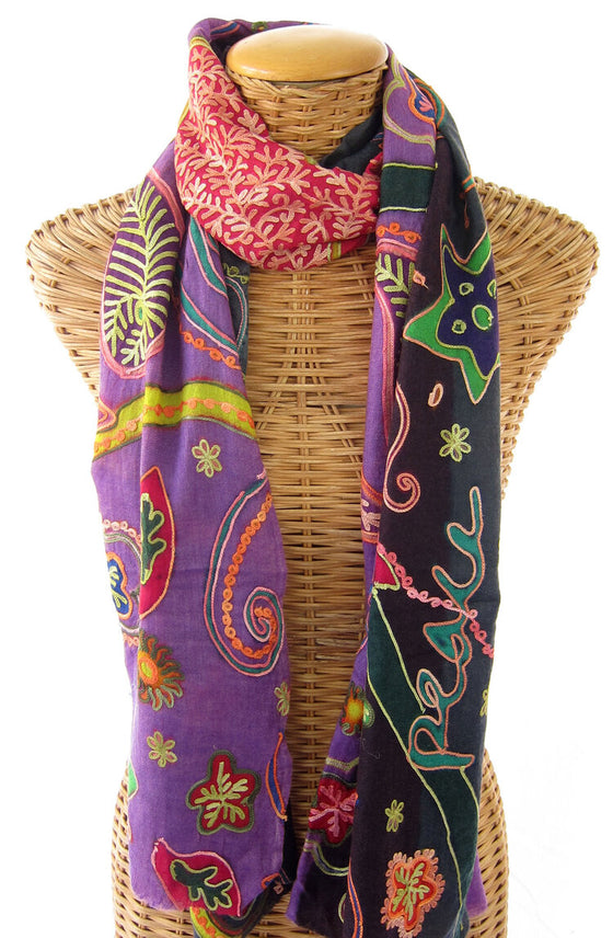 Peace, Love, Joy Scarf by Pam's Pashmina's