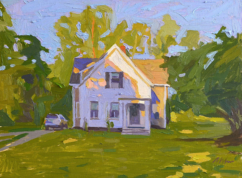 Original Oil Painting by Robert Abele - The Quiet Cottage