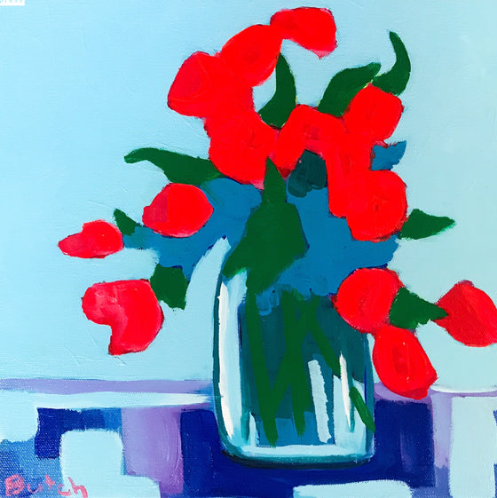 Red Roses, Original Painting by Butch McCarthy