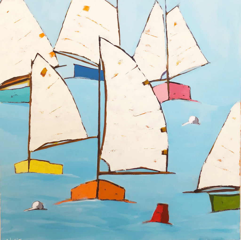 Regatta, Original Painting by Phyllis Dobbyn Adams