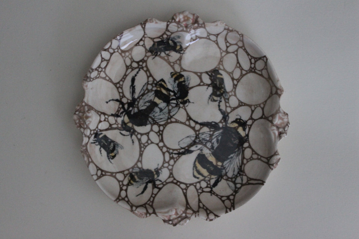 Round Bee Dish by Craig Crawford