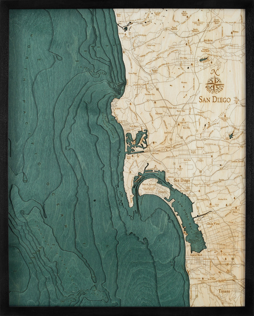 San Diego Wood Chart Map