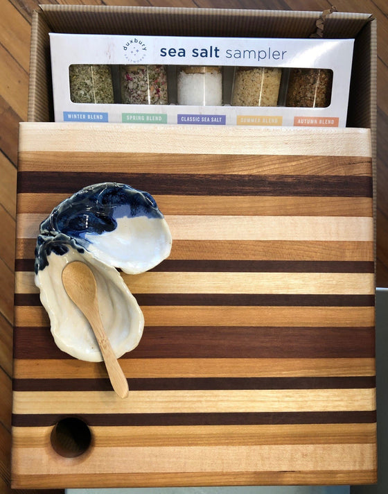 Oyster Salt Dish Culinary Gift Set