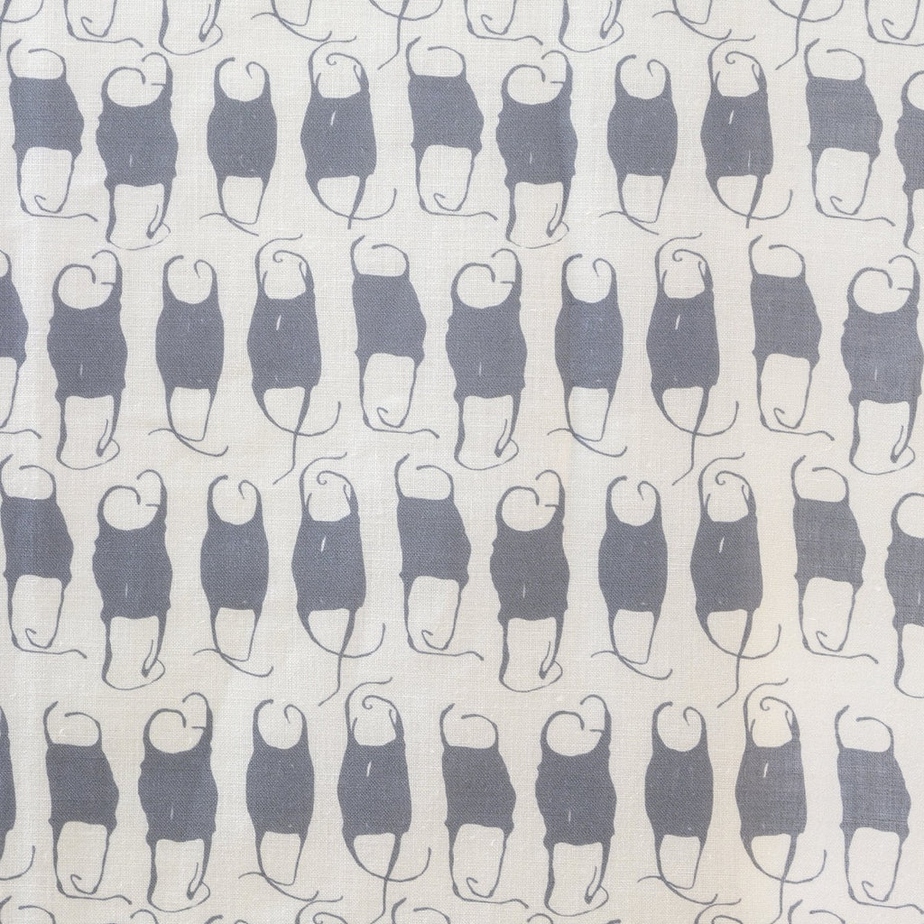 Mermaid's Purse Fabric, Oyster Linen