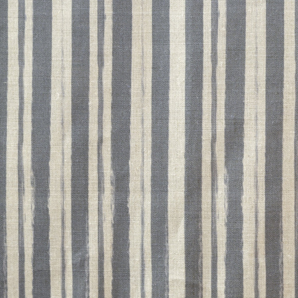 Painterly Stripe Fabric, Natural Linen