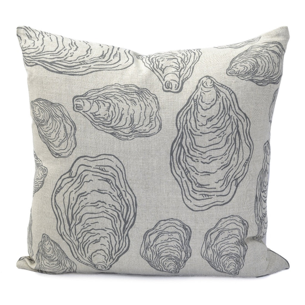 Oyster Shells Pillow, Natural Linen