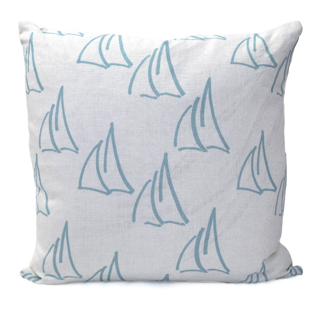 Under Sail Pillow, Oyster Linen