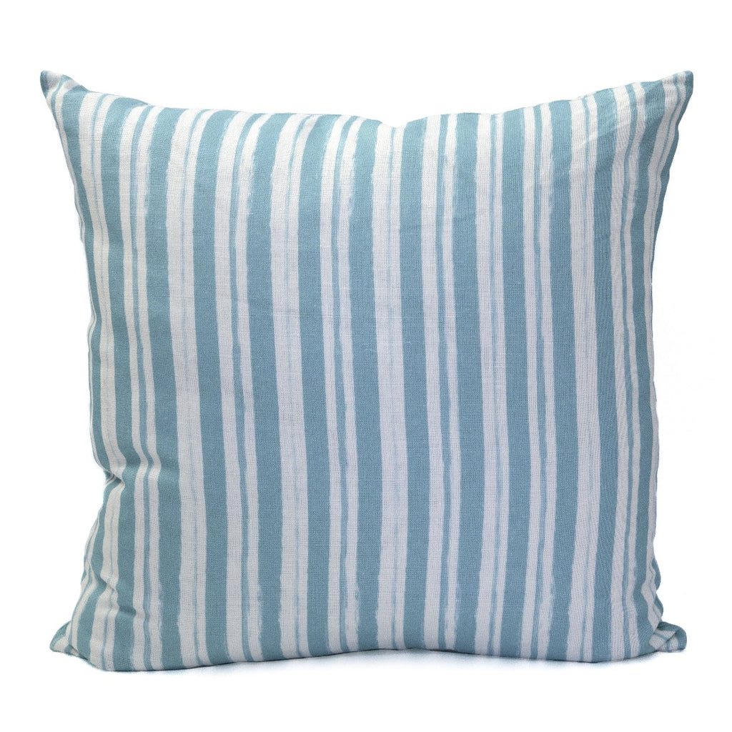 Painterly Stripe Pillow, Oyster Linen