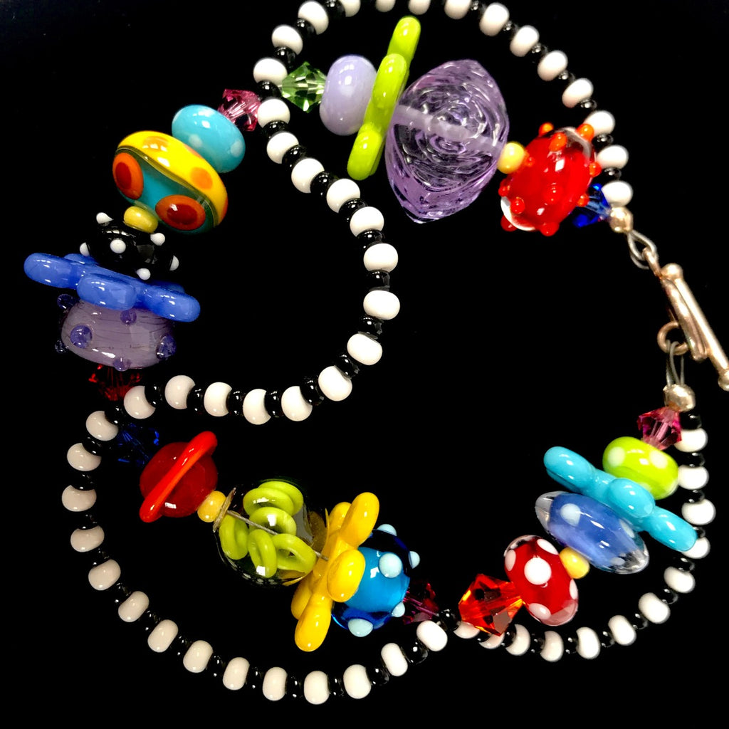 Multi Color DNA Bracelet by Jasmine Keane