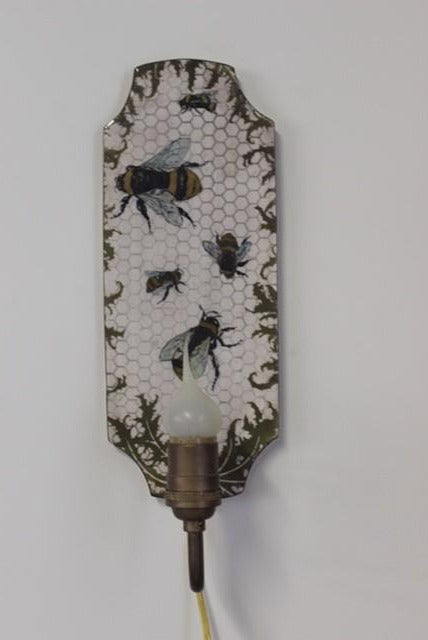 Bees Wall Sconce by Craig Crawford
