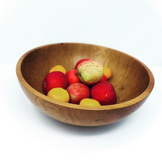 Wood Turned Bowl, Cherry Large