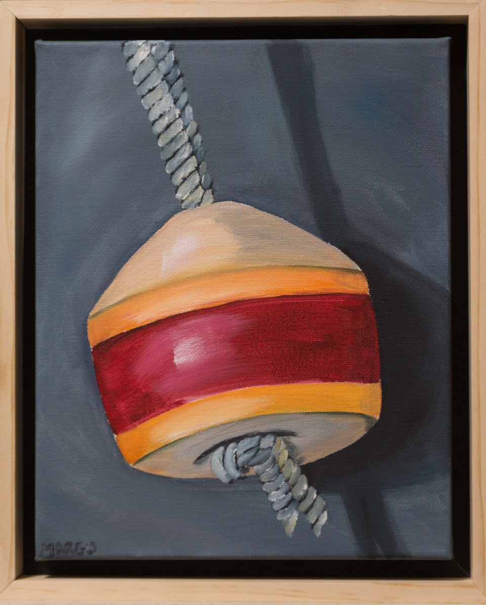 Red Buoy, Original Painting by Margo Connolly-Masson