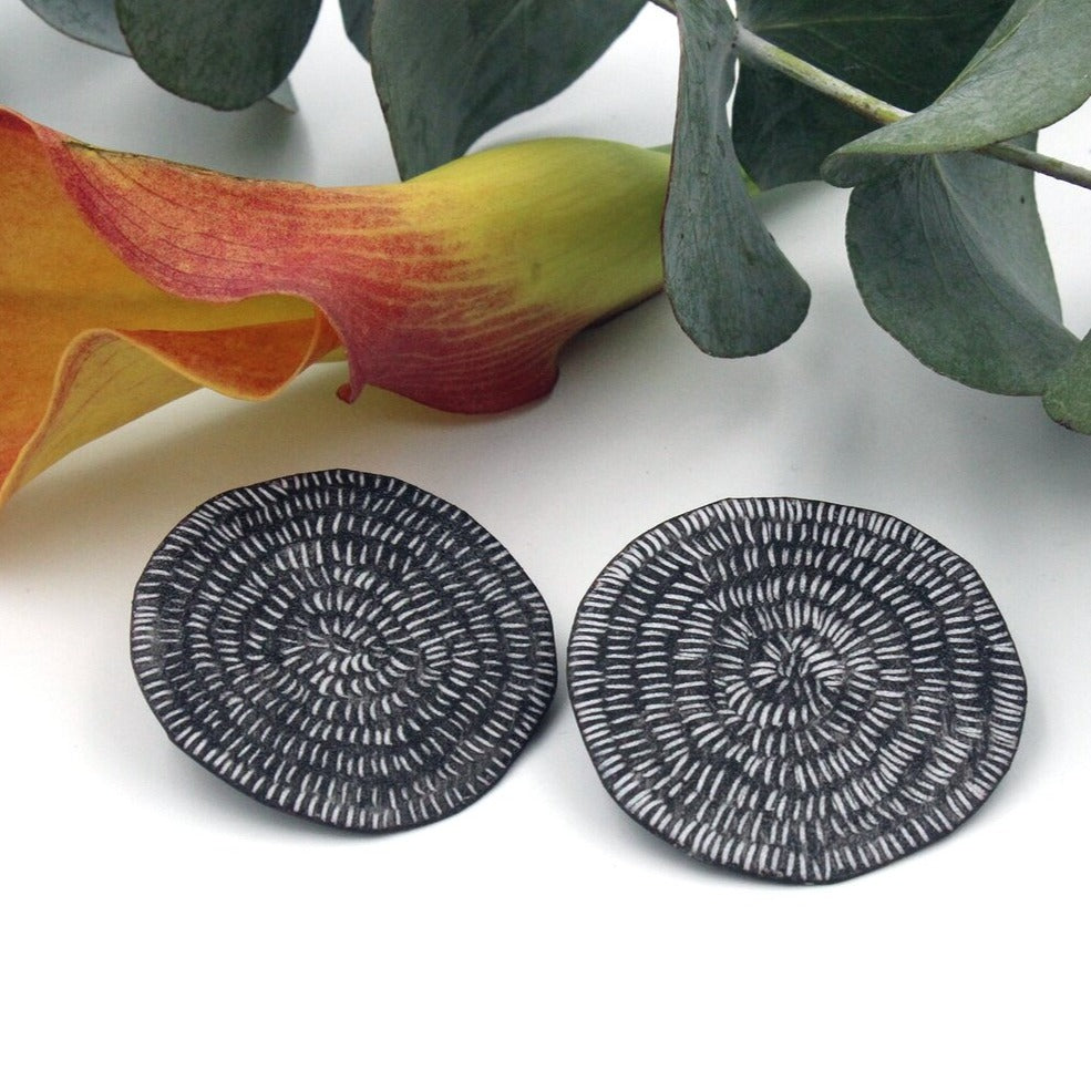 Tanya Crane Earrings Centrifugal Dash Sgraffito