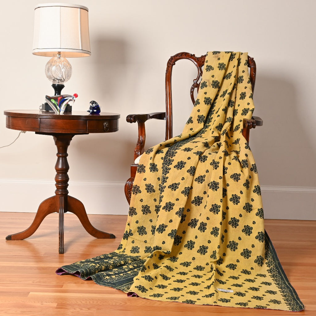 Amalia's Garden Kantha Throw