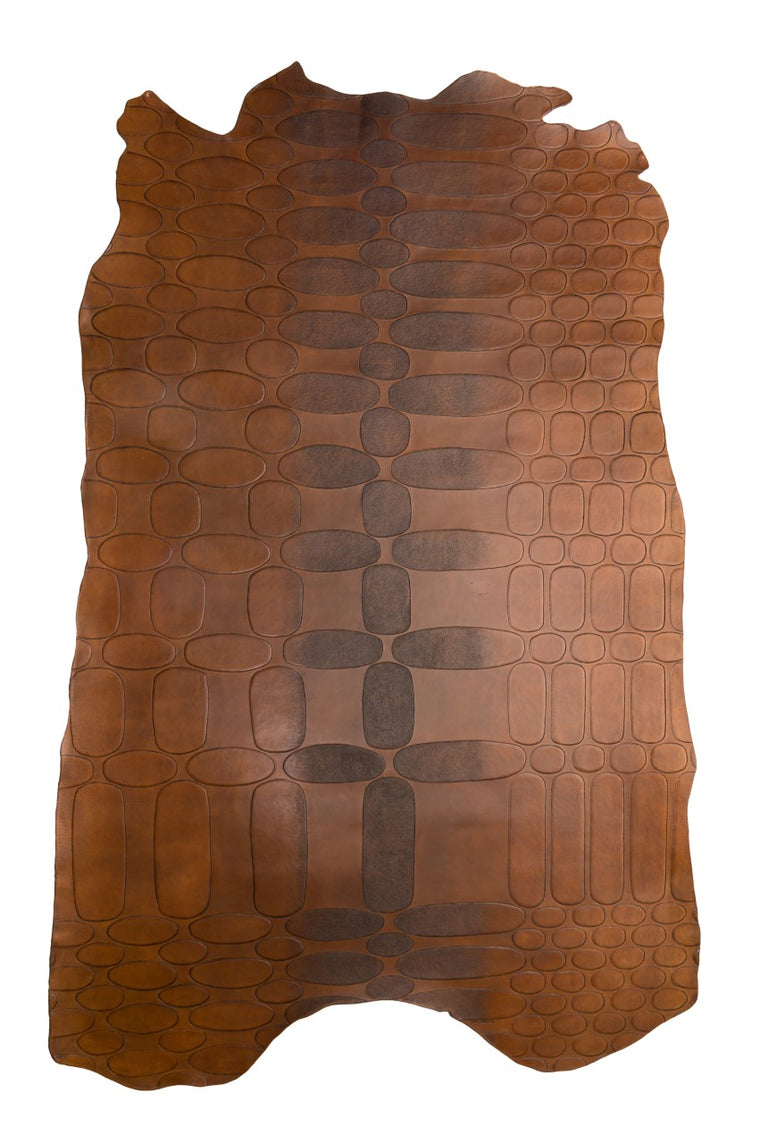 Tooled Leather Modernist Rug