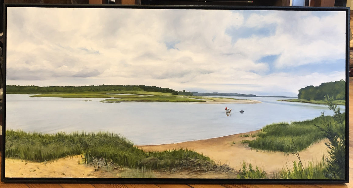 """Quahogging on Buzzards Bay"" Original Oil Painting by Christy Gunnels"