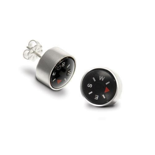 Compass Post Earrings