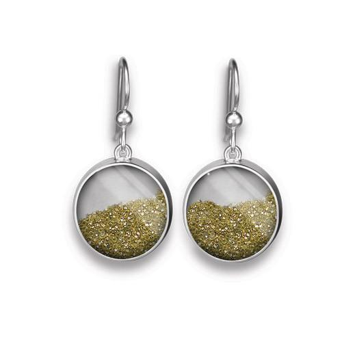 Diamond Dust Earrings, French Wire