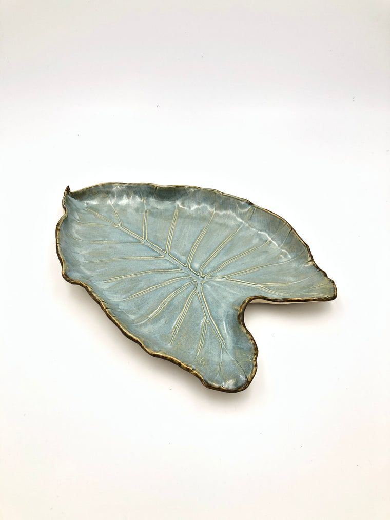 Leaf Platter by Doves Foot Pottery