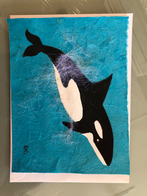 Whale Collage Greeting Card