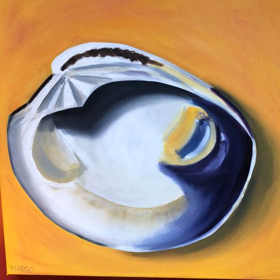 On the Half Shell, Original Painting by Margo Connolly-Masson