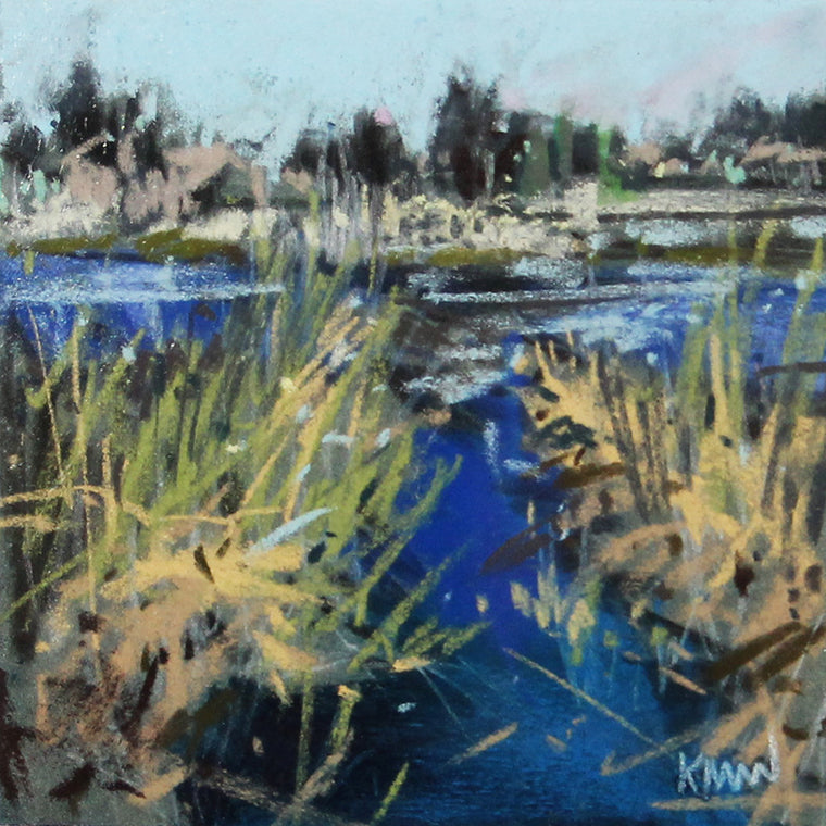 quiet original pastel by kim morin weineck