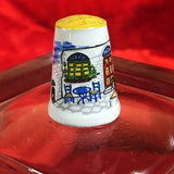 Vintage porcelain souvenir Thimble Collectible Thimble. Zakynthos, Greece.