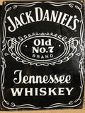 Jack Daniels Old No7 Metal Enamel Advertising Vintage Sign